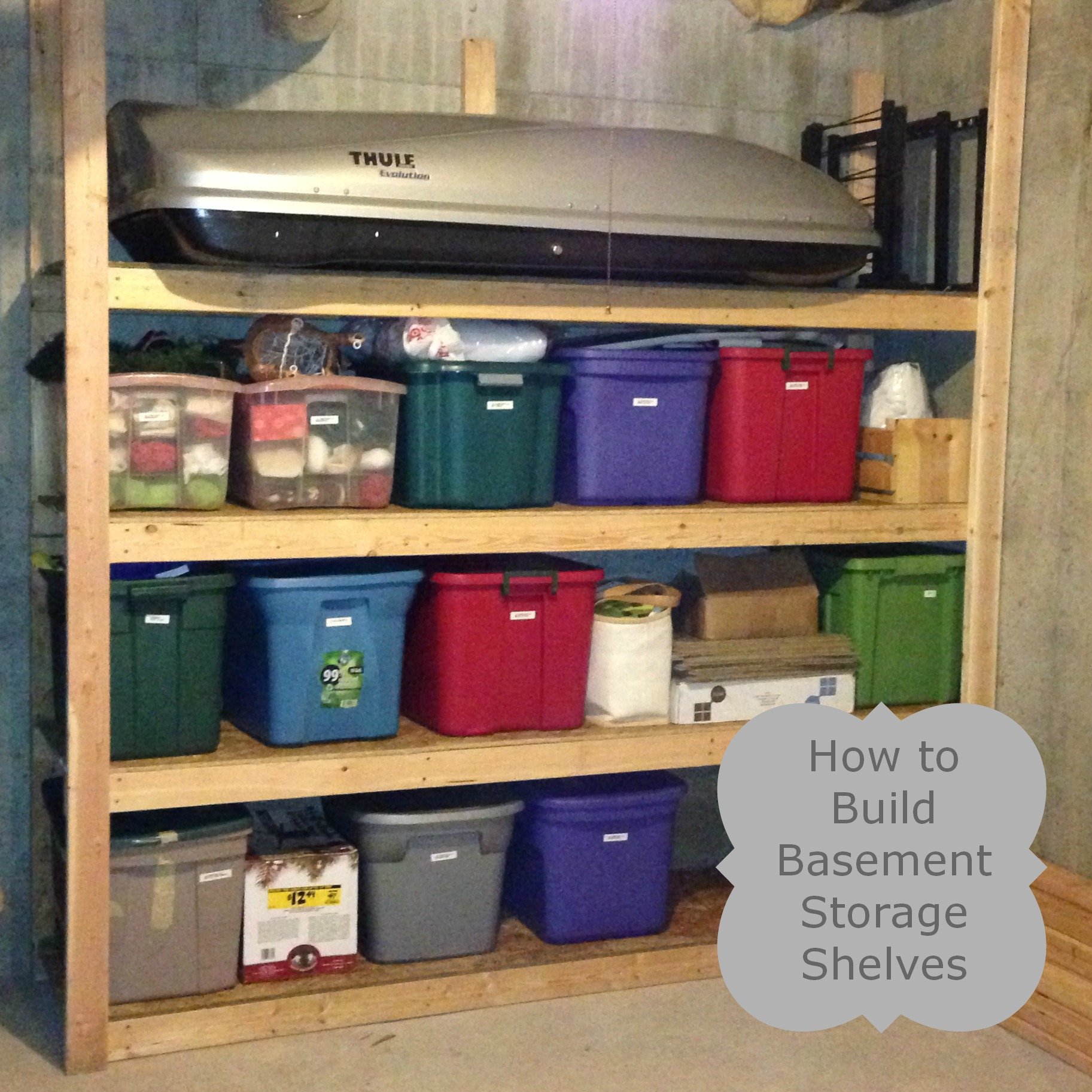 Diy Storage Shelves Basement Storage: Storage Shelf Plans Basement Plans DIY Free Download Pine
